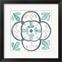 Framed Garden Getaway Tile VII White