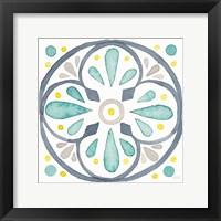 Framed Garden Getaway Tile VI White