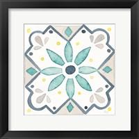Framed Garden Getaway Tile V White