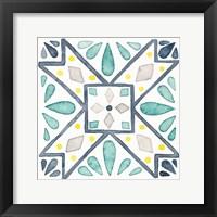 Framed Garden Getaway Tile IX White
