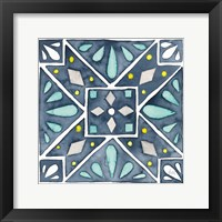 Framed Garden Getaway Tile IX Blue