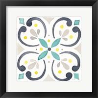 Framed Garden Getaway Tile IV White