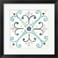 Framed Garden Getaway Tile III White