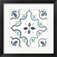 Framed Garden Getaway Tile II White