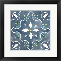 Framed Garden Getaway Tile II Blue