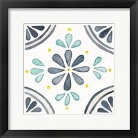 Framed Garden Getaway Tile I White