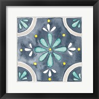 Framed Garden Getaway Tile I Blue