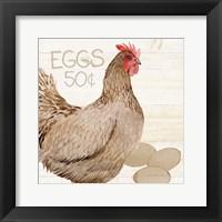 Framed Life on the Farm Chicken III