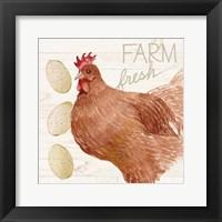 Framed Life on the Farm Chicken II