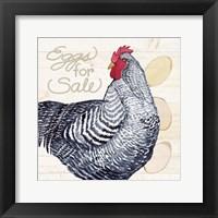 Framed Life on the Farm Chicken I