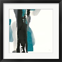 Framed Black and Teal II