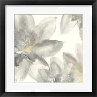 Framed Gray and Silver Flowers I