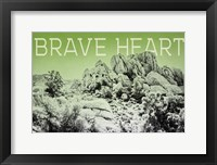 Ombre Adventure V Brave Heart Framed Print
