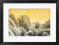 Ombre Adventure I Good Vibes Framed Print