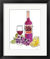 Framed Wine Time III Rose