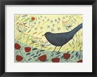 Framed Spring Blackbird 1