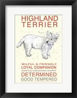 Framed Highland Terrier