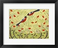 Framed Bullfinches