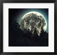 Framed Moon Howl