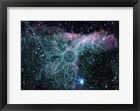 Framed Blue Galaxy