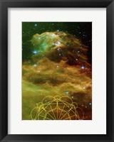 Framed Rising Galaxy
