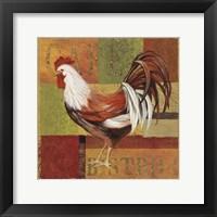 Framed Gourmet Rooster I