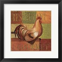 Framed Gourmet Rooster II