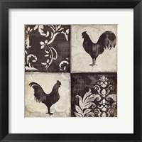 Framed Rooster Silhouette I