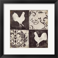 Framed Rooster Silhouette II
