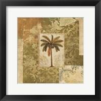 Framed Palm Patchwork I