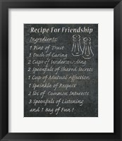 Framed Recipes For Life I