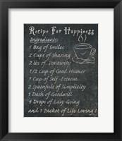 Recipes For Life II Framed Print