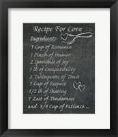 Recipes For Life III Framed Print
