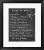 Recipes For Life IV Framed Print