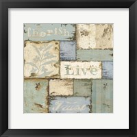 Framed Inspirational Patchwork I