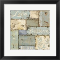 Framed Inspirational Patchwork II