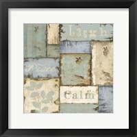 Framed Inspirational Patchwork III