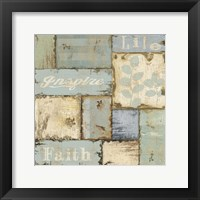 Framed Inspirational Patchwork IV