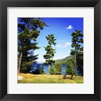 Framed Lake George In September