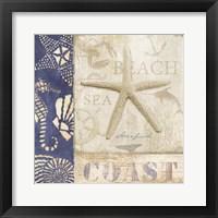 Framed White Sand Blue Sea I