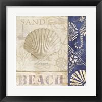 Framed White Sand Blue Sea II
