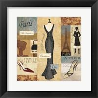 Framed Couture Paris & London I
