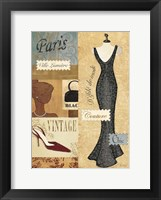 Framed Couture Paris & London III