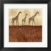 Framed Jungle Family I