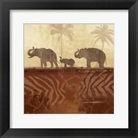 Framed Jungle Family II