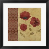 Framed Red Poppies II