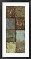 Framed Tapestry Words IV