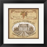 Vintage Labels II Framed Print