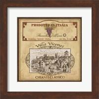 Framed Vintage Labels IV