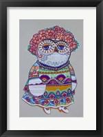 Framed Mexican Folk Owl